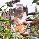 Escócia, Painel amamentação, artista de rua